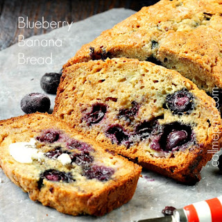 Blueberry Banana Bread with Almond Milk and Coconut Oil
