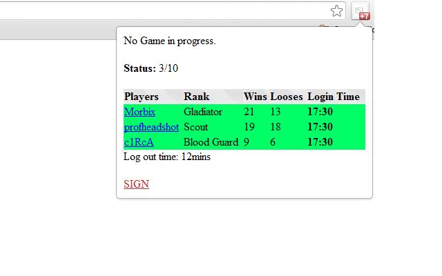 ISL game status