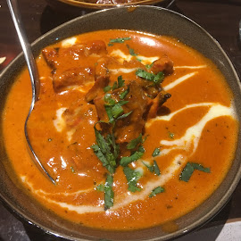Indian curry is always great by Dawn Simpson - Food & Drink Plated Food ( indian food, hot and spicy, dining out, restaurants, curry, kohli's )
