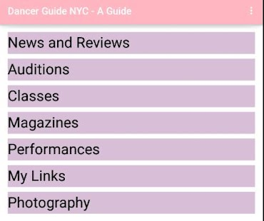 Dancer Guide NYC- screenshot thumbnail