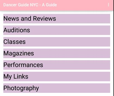 Dancer Guide NYC- screenshot