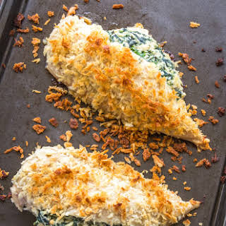 Ricotta and Spinach Stuffed Baked Chicken Breast.