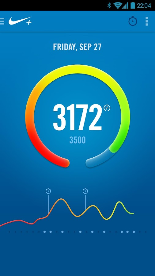 Nike+ FuelBand - screenshot
