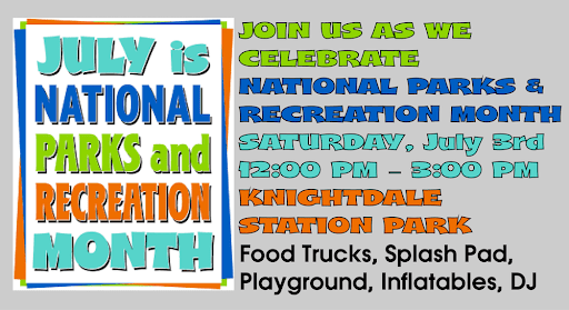 National Parks & Recreation Month Celebration in Knightdale: inflatables, food trucks, more…