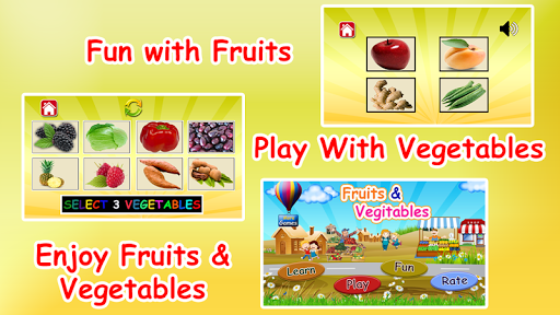 Fruits and vegetables learning