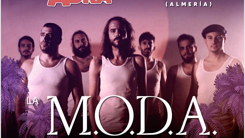 Cartel del próximo concierto de LA M.O.D.A en Adra.