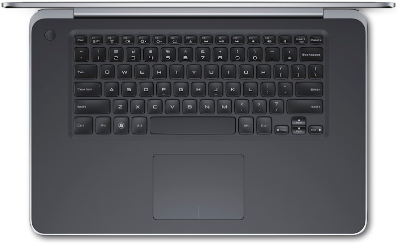 Photo: Dell XPS 15 - top down keyboard view.More details here: http://dell.to/Oj6LIW