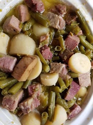 Amazing Ham, Green Beans And New Potatoes Recipe