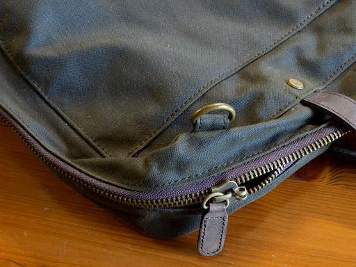 Barbour Wax Cotton Leather Laptop Bag