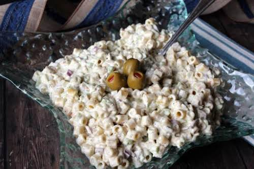"""""""Dirty"""" Mac Salad """"This recipe was inspired by a dirty martini."""" -..."""