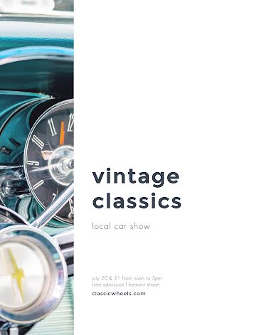 Vintage Classics Car Show - Flyer Template