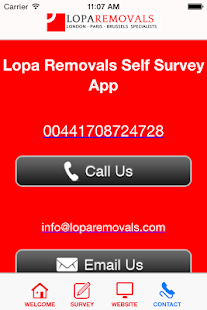 Lopa Removals Self Survey App- screenshot thumbnail
