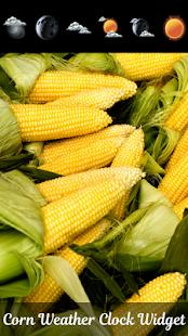 Kukuřice počasí hodiny widget - náhled