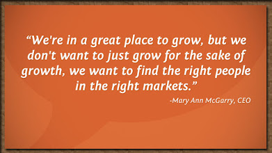 Photo: Mary Ann McGarry set the tone for continued company expansion.