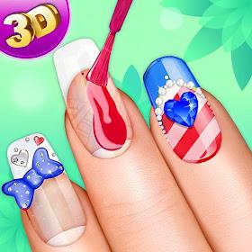 3D Nail Art Manicure игры для парикмахерских игр