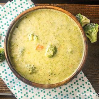 Healthier Cheddar Broccoli Soup