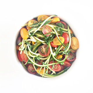 Summer Zucchini Noodles With Garlic Confit Oil.