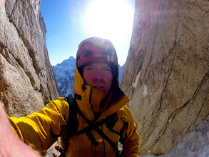 Photo: Selfie in the middle of 'Hypa Zypa Couloir', Alaska