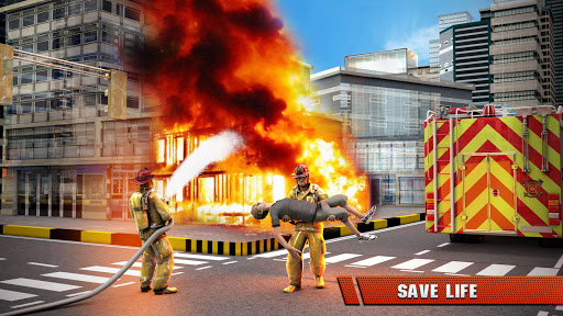 City Firefighter Truck conduite de sauvetage  captures d'u00e9cran 4