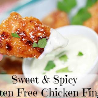 Sweet and Spicy Gluten Free Chicken Fingers.