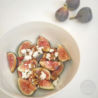 Figs with Goat Cheese and Balsamic Vinegar