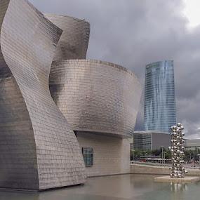 Bilbao by Luis Felipe Moreno Vázquez - Buildings & Architecture Public & Historical ( spain, buildings, clouds, water, bilbao, architecture )