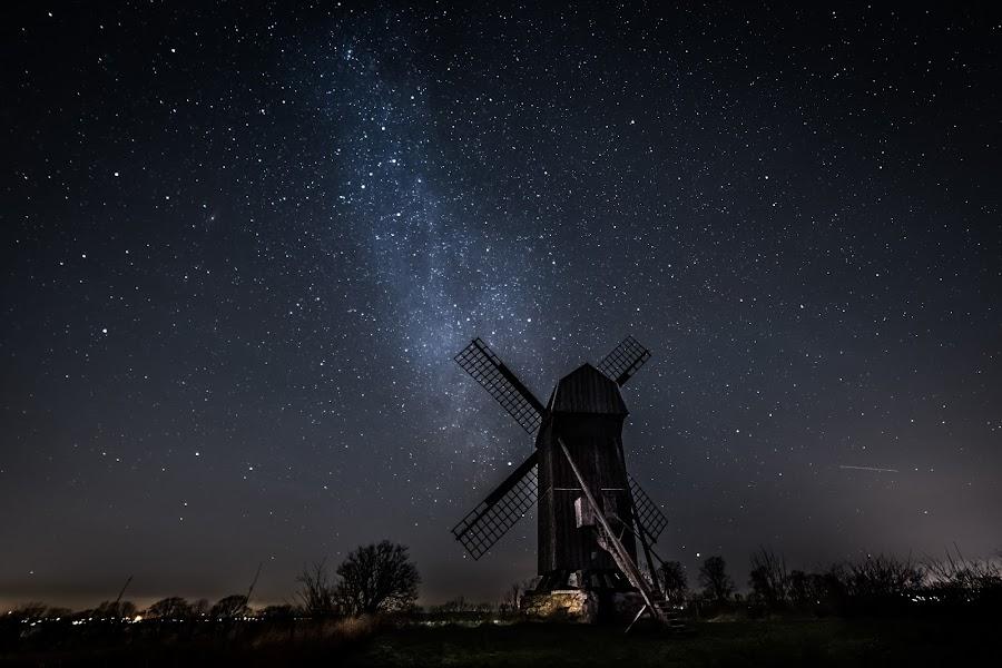 Old Mill by Jocke Mårtensson - Landscapes Starscapes