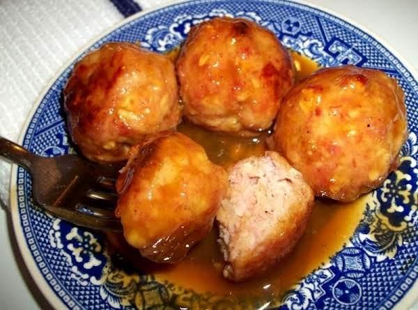 Ham Balls In Orange Glaze