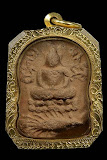 พระหลวงพ่อปาน วัดบางนมโค พิมพ์ทรงเม่นบัว 8 เม็ด สองชั้น เนื้อดิน ปี2460