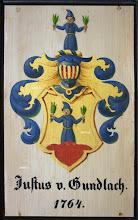 Photo: Wappen der Glasmacher Familie Justus von Gundlach