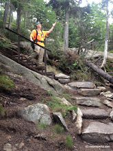 Photo: Trail crew on walkway at Mt. Ascutney State Park by Sherry Winnie