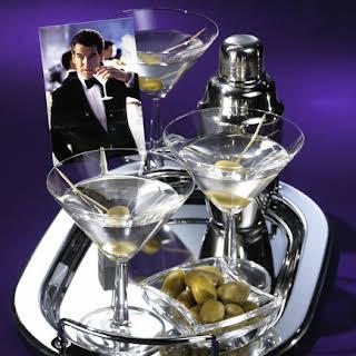 'James Bond' Martini cocktail.