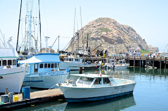 Photo: 201. Morro Bay is a working harbor, with many fishing boats. Morro Rock is a protected bird sanctuary and there are nesting peregrine falcons perched up high on the rock. I didn't see any falcons flying around while I walked around, but there were birders there with spotting scopes who were looking for them.
