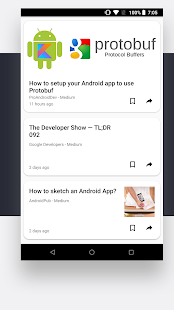 DroidFeed - Latest Android Developer News - náhled