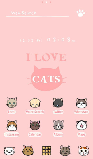 Wallpaper I Love Cats Theme 1.0.0 Windows u7528 1
