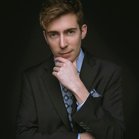 Dressed for Success by Chuck Mason - People Portraits of Men ( man portrait, business attire, suit, blue tie, portrait )