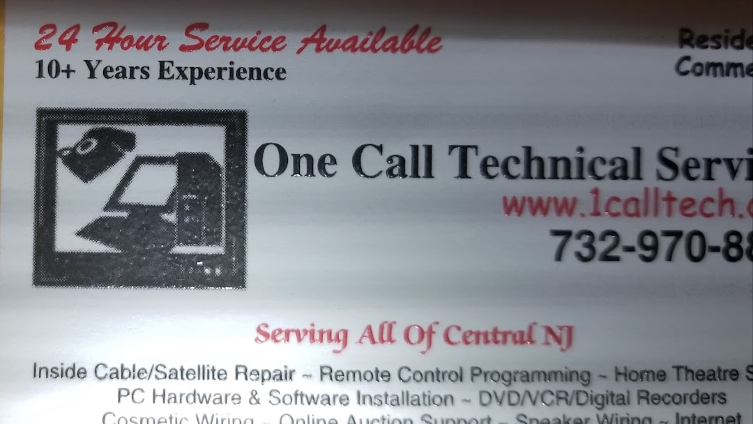 One Call Technical Services - AV, Data and Low Voltage: Engineering