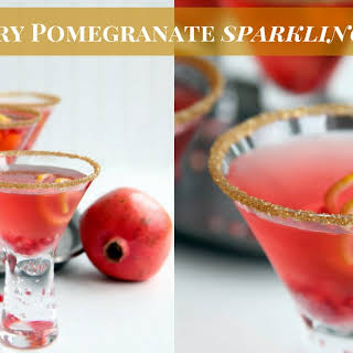 Cranberry Pomegranate Sparkling Punch.