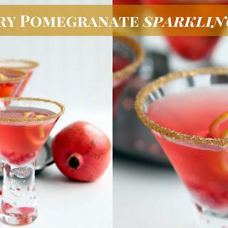 Cranberry Pomegranate Sparkling Punch.