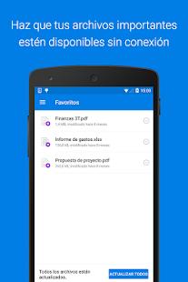Dropbox: miniatura de captura de pantalla
