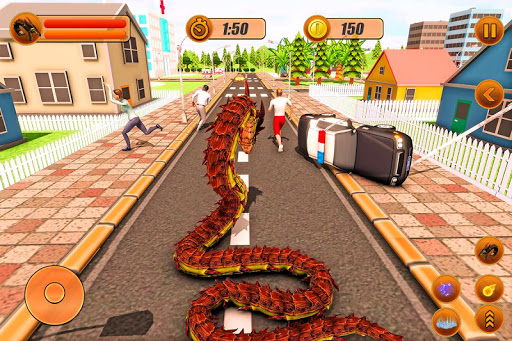 Furious Anaconda Dragon Snake City Rampage screenshot 6