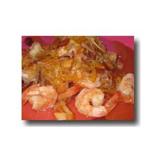 Orange Coconut Shrimp.