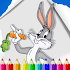 Coloring Book for Looney Run: Toons Bunny dash