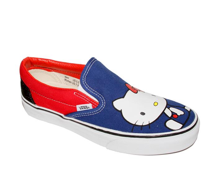 Photo: VANS x Hello Kitty Classic Slip-On: Blue http://bit.ly/N4DVLC