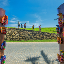 The Galle Fort by Sihina Lahiru - Buildings & Architecture Public & Historical ( landscapes, door, tourism, masks, doorway, foreground, ancient, people, tour, tourist, fortress, sri lanka, fort, landmark, gallery, mask )
