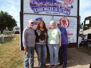 Photo: Dave, has a visit in Sioux falls with his brother Don Busch (right), wife Linda and their daughter Sarah