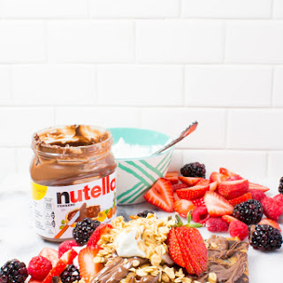 Nutella Parfait Almond Flour Crepes Recipe