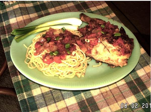 Rock Cornish Hen Cacciatore With Spaghetti Recipe