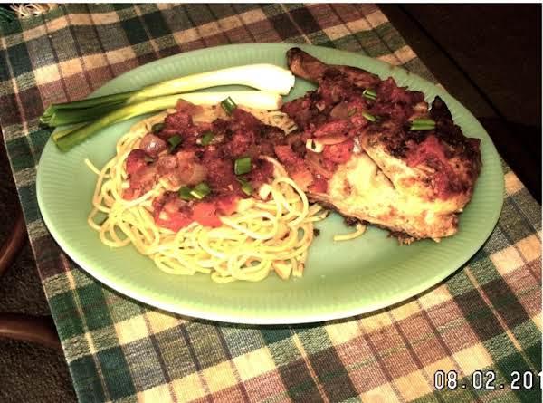 Rock Cornish Hen Cacciatore With Spaghetti Recipe