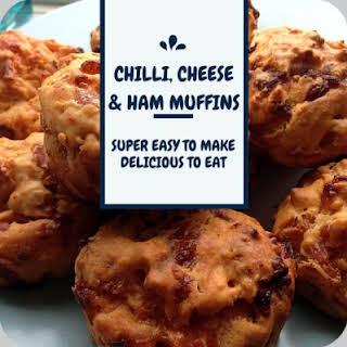 Savoury Muffins – Chilli, cheese and ham muffins…..